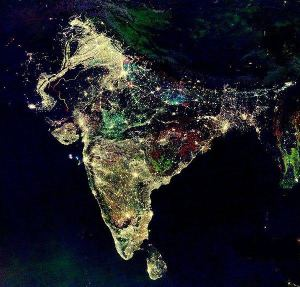 India at night during Diwali