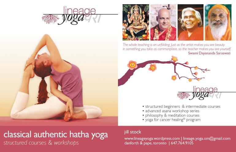 Lineage Yoga Brochure