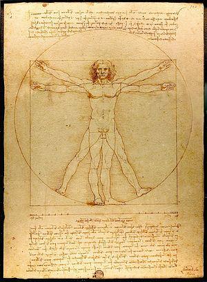 """Da Vinci""""s Vitruvian Man"""