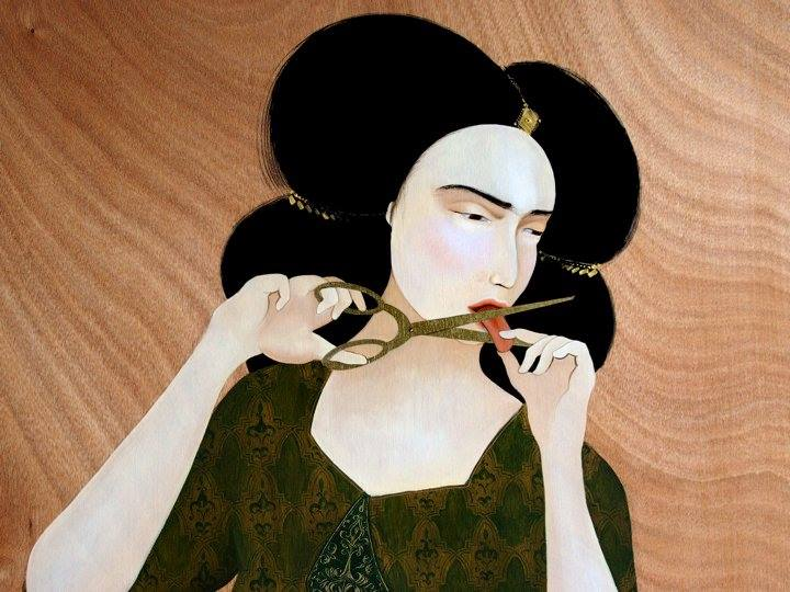 A painting by Hayv Kahraman, Iraq