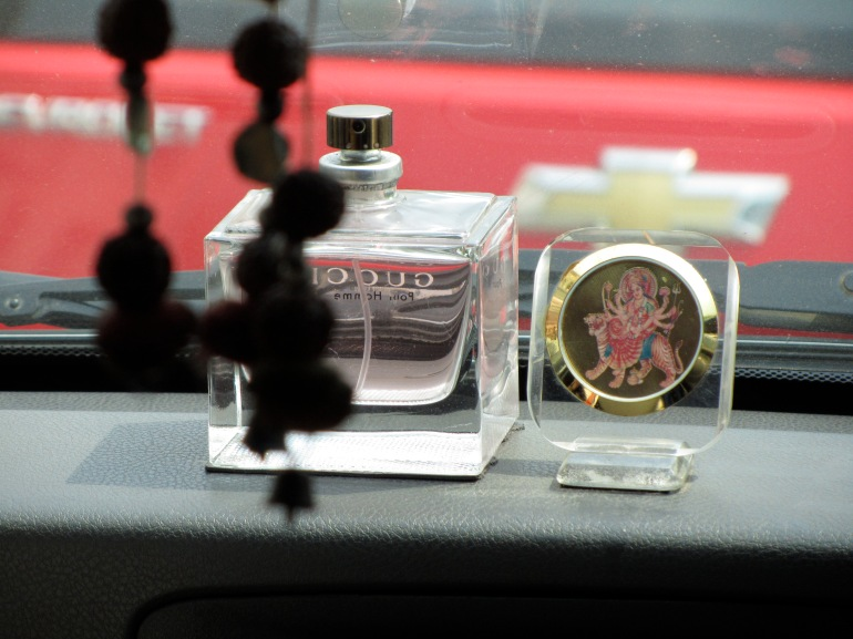 Gucci pour homme - Taxi dashboard in Delhi